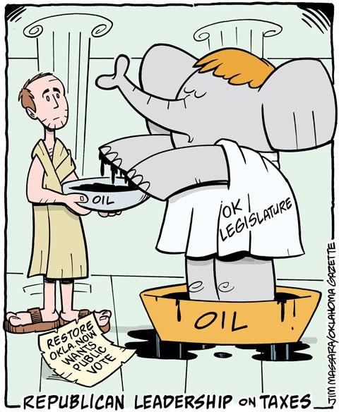 Editorial cartoon: Republicans wash hands of tax vote