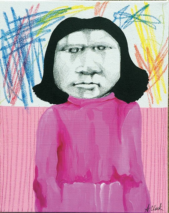 """Alicia """"Saltina"""" Marie Clark's Fragmentary Stories pull from her family and tribal history while capturing elements of her own life.   Photo The Paseo Arts District / provided"""