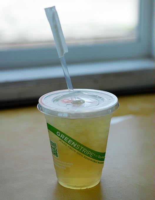 Peach Blossum iced tea at Leaf + Bean in Oklahoma City, Wednesday, July 15, 2015. - GARETT FISBECK