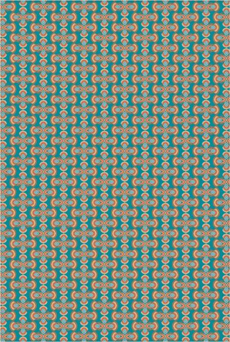 Local artist Tiffany McKnight used colors inspired by a trip to Santa Fe. Image Tiffany McKnight provided