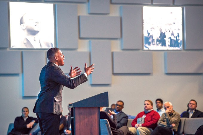 """BerThaddaeus Bailey travels the country, reciting Dr. Martin Luther King Jr's """"I Have a Dream"""" speech. 