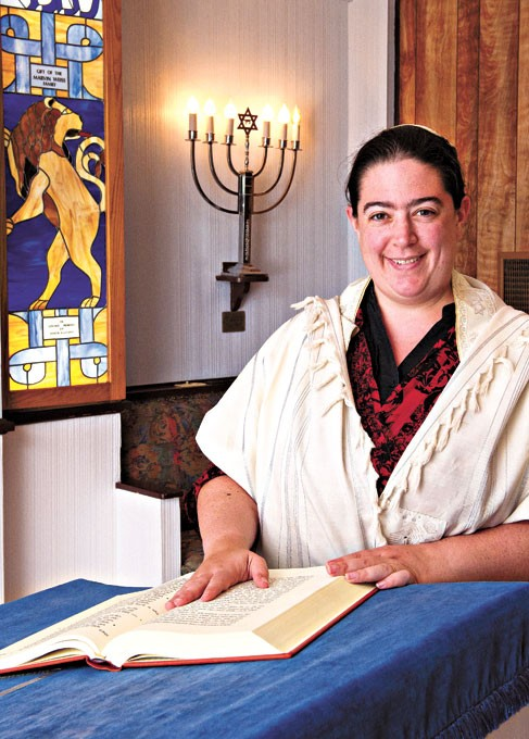 Rabbi Abby Jacobson from Emanuel Synagogue engages in nontraditional food for Hanukkah.   File photo