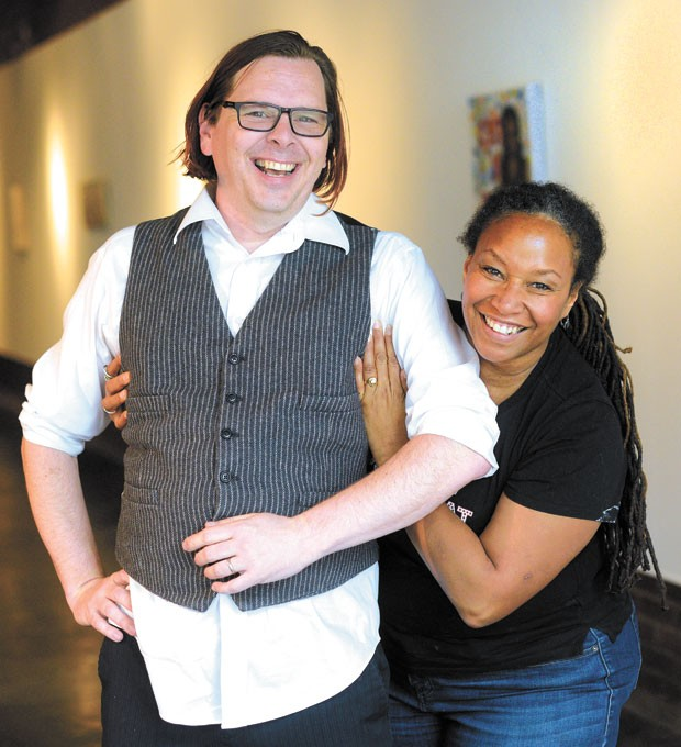 from left David Smith and Suzanne Thomas continue IAO's mission to support local art. | Photo Gazette / file