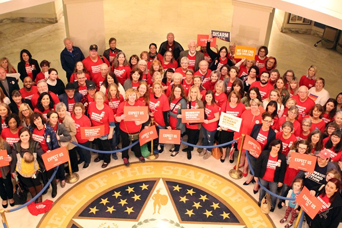The Oklahoma Chapter of Moms Demand Action for Gun Sense in America recently advocated against a host of measures they believe jeopardize public safety. (Photo provided)