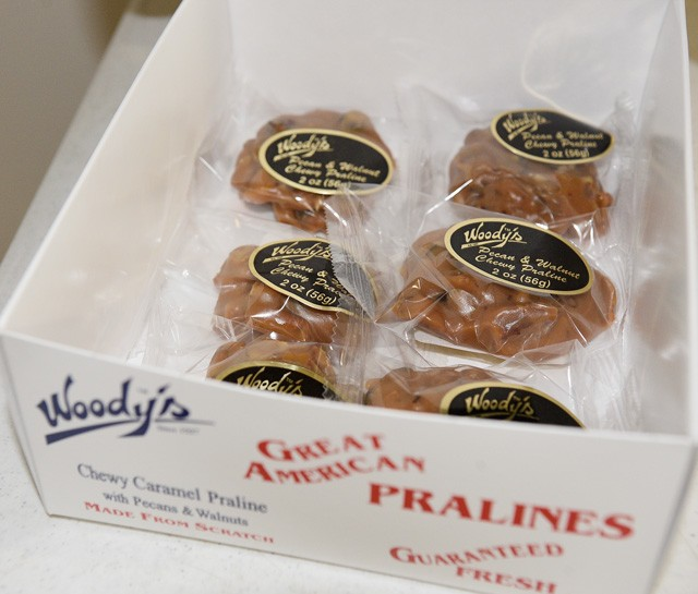 Chewy caramel pralines are Woody's top seller at more than 5,000 retail clients across the country. (Photo Jacob Threadgill)