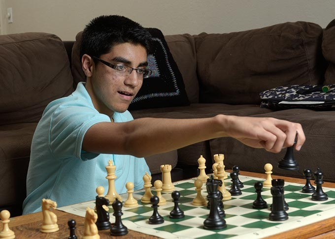 Advait Patel, the highest-ranked chess player in Oklahoma, is a 15-year-old high school student from Midwest City. (Garett Fisbeck)