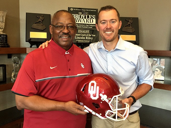 Lincoln Riley hired his former head coach Ruffin McNeil after taking over for Bob Stoops this summer. | Photo provided