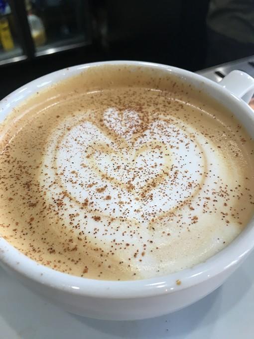A dirty chai latte at Aurora - JACOB THREADGILL