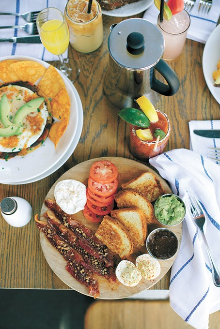 The breakfast board and huevos rancheros at Packard's New American Kitchen - EMILY HUGH'S PHOTOGRAPHY / PROVIDED