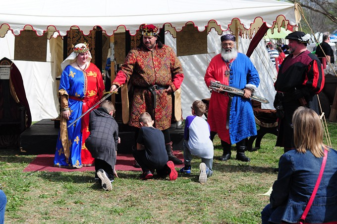 Local and national historic actors descend upon Reaves Park each year for The Medieval Fair of Norman. - MICHAEL MAHAFFEY  / UNIVERSITY OF OKLAHOMA / PROVIDED