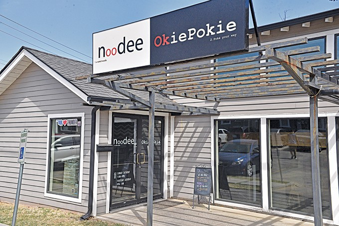 At 2418 N. Guernsey Ave., Noodee and Okie Pokie are separate restaurant concepts inside the old Guernsey Park location. - JACOB THREADGILL