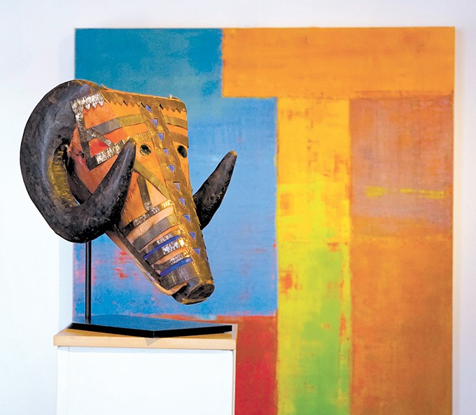 HERD includes 12 bovine masks from a variety of African cultures. - NAULT FINE ART / PROVIDED
