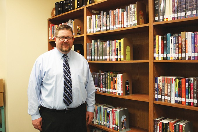 Brad Buxton, principal of Emerson South, devotes half of his day to listening to his students and supporting them through difficult life decisions. - LAURA EASTES