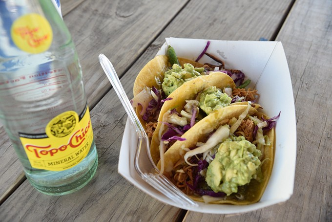 Chicken chipotle tacos from Black Cat food trailer - JACOB THREADGILL