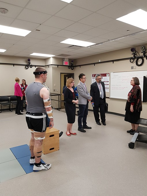 Doctors and scientists at OU's Center for  Human Performance Measurement will assess movement with a new motion analysis system. - UNIVERSITY OF OKLAHOMA HEALTH  SCIENCES CENTER / PROVIDED