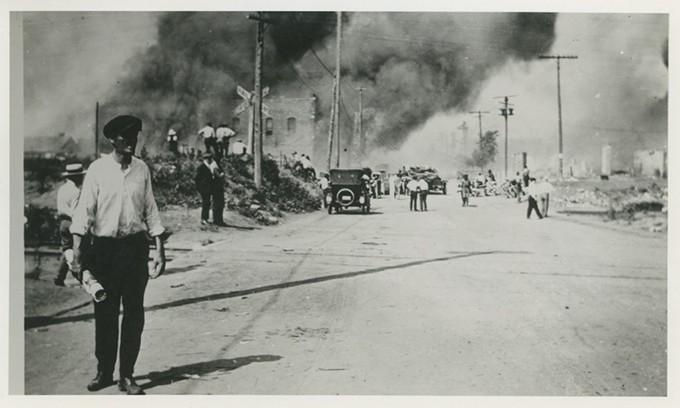 The burning of Greenwood. - TULSA HISTORICAL SOCIETY & MUSEUM / PROVIDED