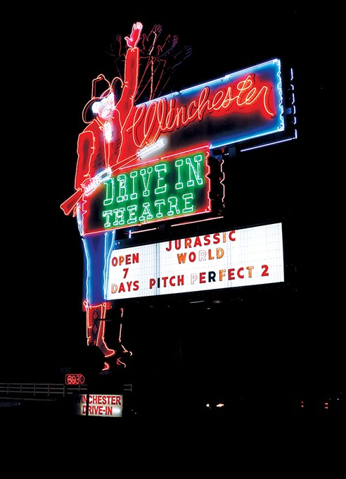 Chester the cowboy has been looking over Winchester Drive-In Theatre for 50 years. - GAZETTE / FILE