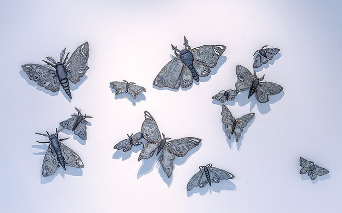 """""""13 Moths"""" by Heather Gorham - IMAGE PROVIDED"""