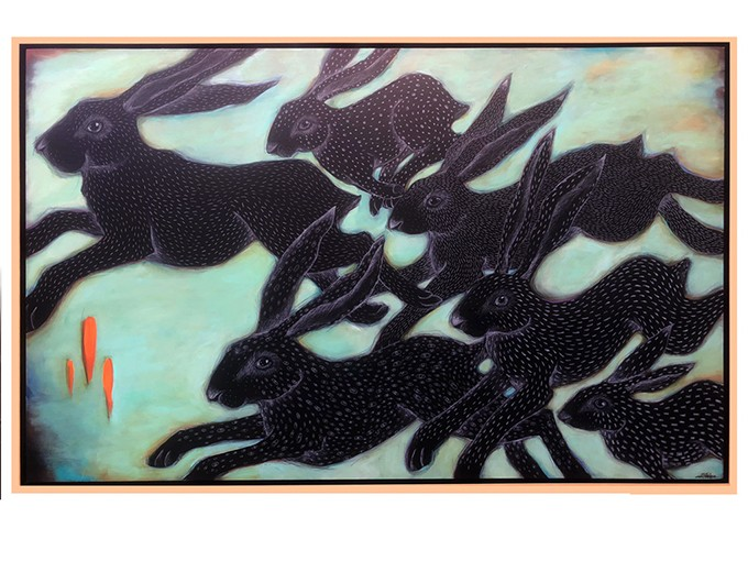"""""""Running Hares"""" by Heather Gorham - PROVIDED"""