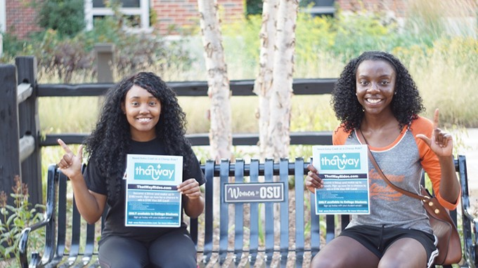 from left Ashané Woody and Sammiyah Abdullah created ThatWay as a rideshare program exclusively for college students. - PROVIDED