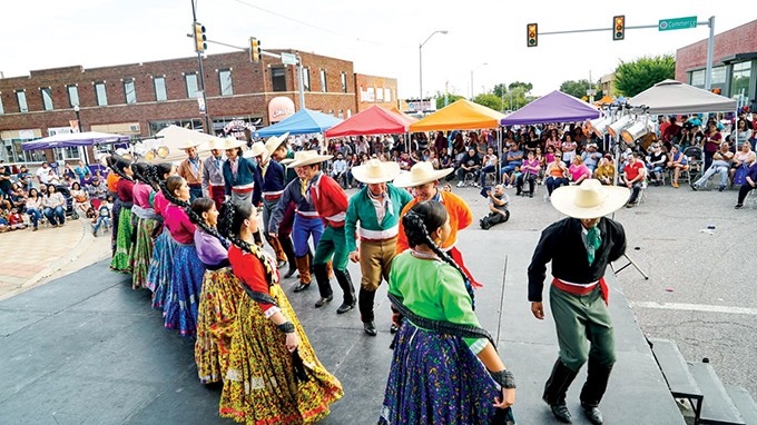 Dancers celebrate Colombian culture at Fiestas de las Americas. The festival, now in its 13th year, will take place from 10 a.m.-8 p.m. Sept. 29 in the Capitol Hill District. - PROVIDED
