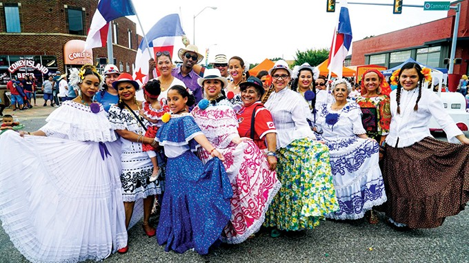 Folklorico dancers perform a traditional Mexican dance at Fiestas de las Americas. - PROVIDED
