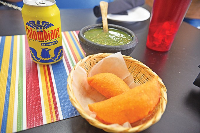 Empanadas can be eaten in Colombia with every meal of the day. - JACOB THREADGILL
