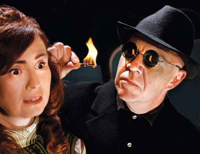 J. Christine Lanning and David Fletcher-Hall star in Jewel Box Theatre's current production of Wait Until Dark. - JIM BECKEL / PROVIDED