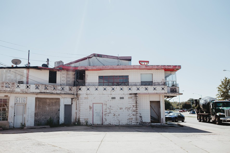 Time has taken its toll on the Donnay Building, which was completed in 1954. - ALEXA ACE