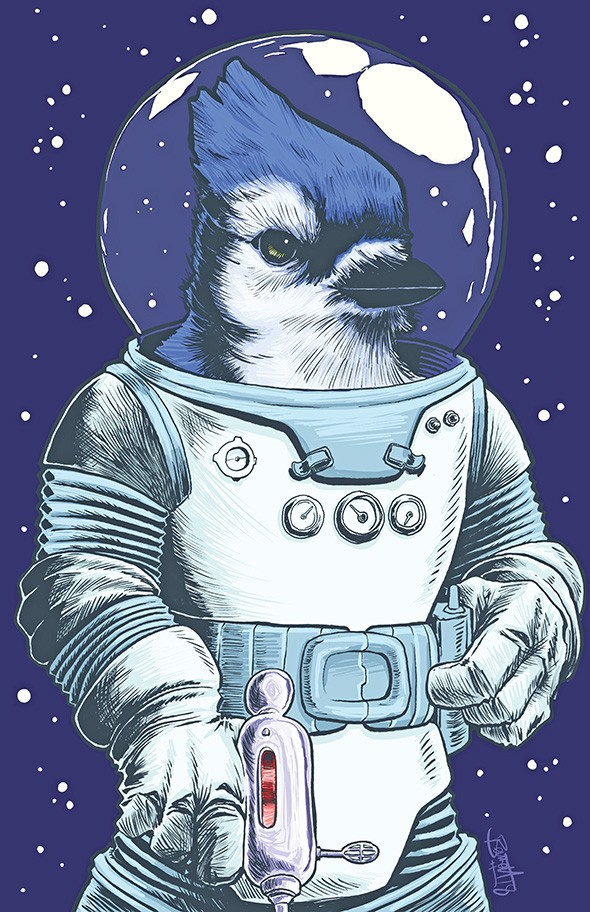 """Captain Galactibeak"" by Jerry Bennett - PROVIDED"