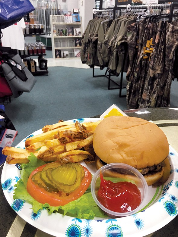 The classic onion burger is one of seven types of onion burgers on the 4U Café menu. - JACOB THREADGILL