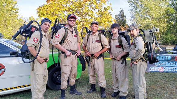 The Real Oklahoma Ghostbusters based in Claremore use proton packs and other equipment created with a 3D printer. - MICHAEL HYATT / PROVIDED