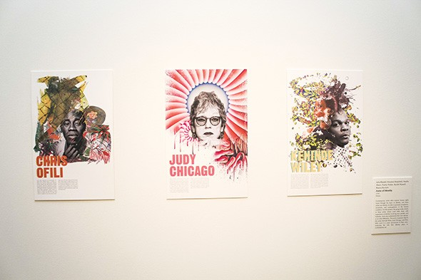 """""""Icons of Identity"""" discusses the works of three contemporary artists on posters created in styles reminiscent of their own. - LEARNING + ENGAGEMENT GALLERY / PROVIDED"""
