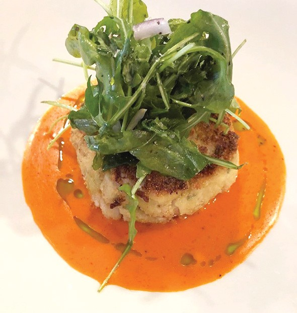 A fish cake from Patrono's 2017 Feast of the Seven Fishes - PROVIDED