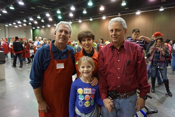 Mary Blankenship Pointer top center said Red Andrews Christmas Dinner will serve 6,000-7,000 people this year. - RED ANDREWS CHRISTMAS DINNER FOUNDATION / PROVIDED