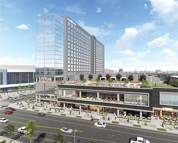 Omni Oklahoma City Hotel is currently under construction and set to open in 2021. - PROVIDED