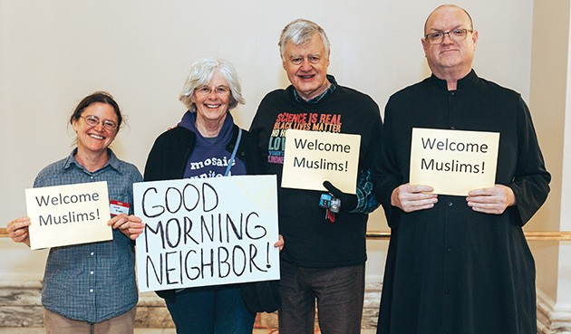 Members of the interfaith community attend the Capitol event to show their support to the Muslim community. - CAIR / PROVIDED