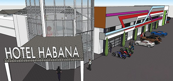 Early Hotel Habana renderings show a completely redone facade and lobby. - HAROLD E. FULTON DESIGN & CONSULTING / PROVIDED