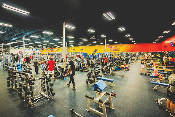 Crunch gyms have a largely open layout to expose patrons to classes and the fitness - options it offers. - PROVIDED