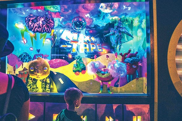Characters in Mix-Tape's interactive shop window display will be incorporated into the 6,000 square-foot installation scheduled to open Sept. 21. - TODD CLARK / PROVIDED