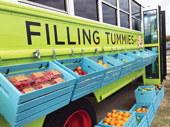 Filling Tummies is a nonprofit that provides fresh fruit and vegetables to schoolchildren on Fridays. - PROVIDED