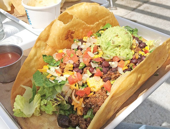 Taco salad with ground beef at OSO on Paseo - JACOB THREADGILL