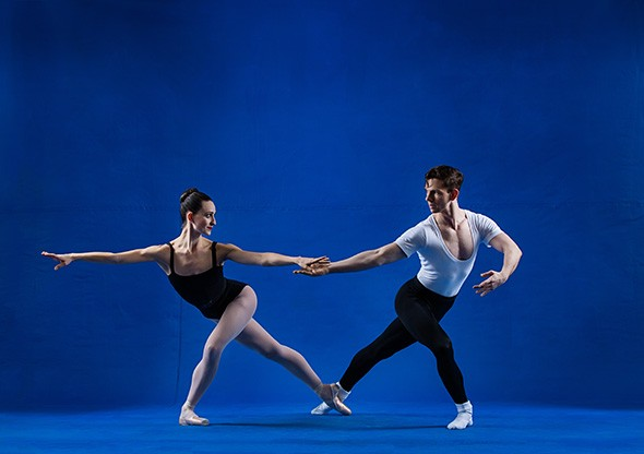 Dancers Sarah Jane Stropes left and Dave Naquin perform in Oklahoma City Ballet's Visionaries: A Triple Bill. - SHEVAUN WILLIAMS / PROVIDED