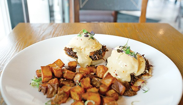 Korean short rib Benedict at Chae Cafe & Eatery - ALEXA ACE