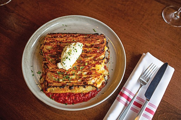 Sparrow's 100-layer lasagna takes three days to prepare. - ALEXA ACE