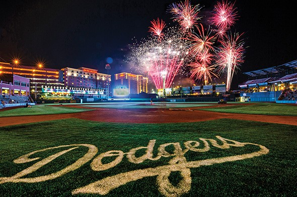 Oklahoma City Dodgers play Red Rock Express 7:05 p.m. Thursday at Chickasaw Bricktown Ballpark, followed by Fourth of July fireworks. - CODY ROPER/OKC DODGERS / PROVIDED