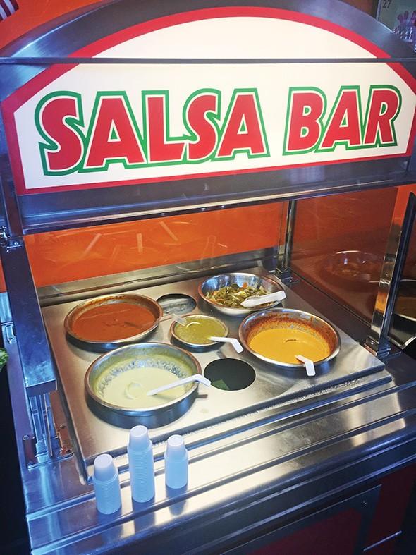 Perez Truck Restaurant's salsa bar - JACOB THREADGILL