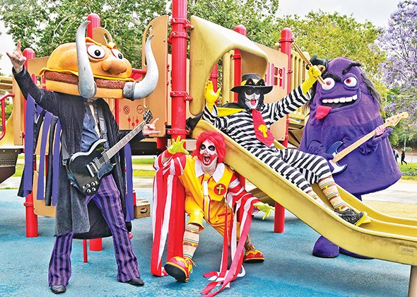 """The band's fast-food-themed parodies of Black Sabbath songs include """"More Ribs"""" (""""War Pigs"""") and and """"Frying Pan"""" (""""Iron Man""""). - PAUL KOUDOUNARIS / PROVIDED"""