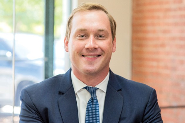 J. Blake Patton, attorney at Walding & Patton, represents Tulsa Women's Clinic in a case challenging a 2015 abortion law. - MIGUEL RIOS
