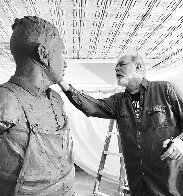 Norman sculptor Paul Moore - PROVIDED